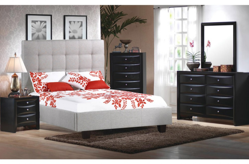 Jessica Bed IF Double And Queen Size Espresso Finish. Allison Bedroom Set