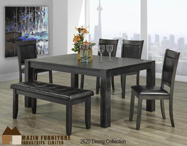 Dining Set Cherry Finish 3283 78 Rich V Match Veneer Table Tops Chairs With Padded Leatherette Seats
