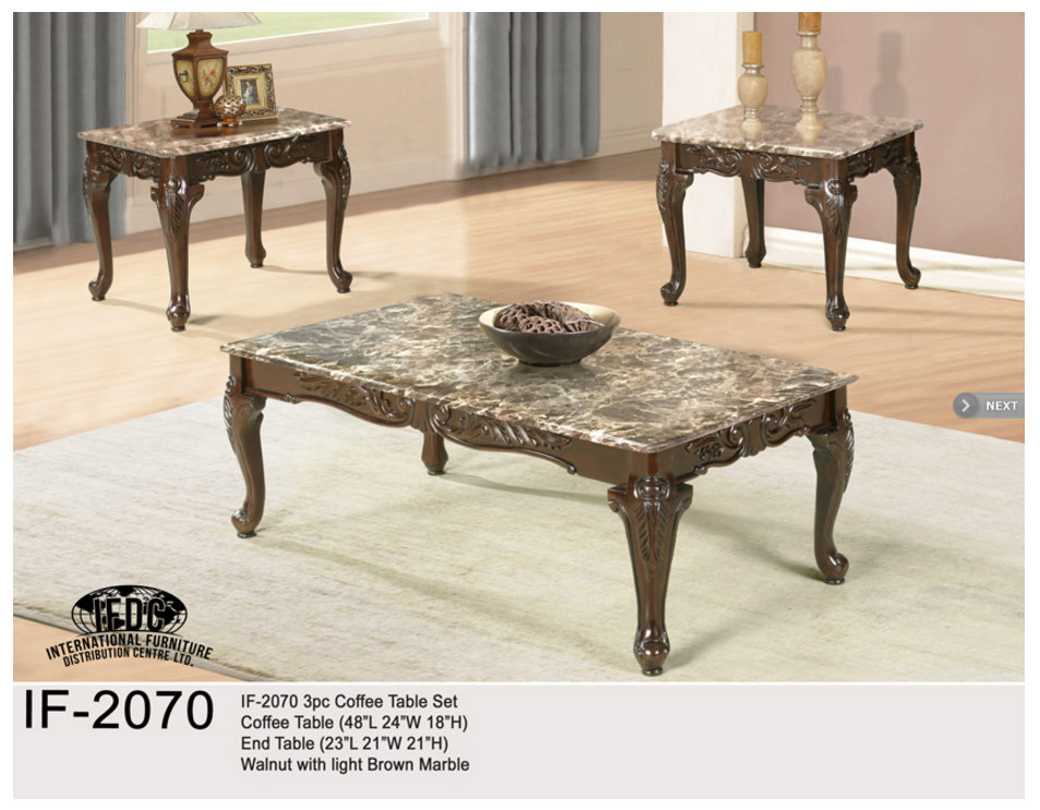 If 3500 3pc Coffee Table Set Espresso Finish