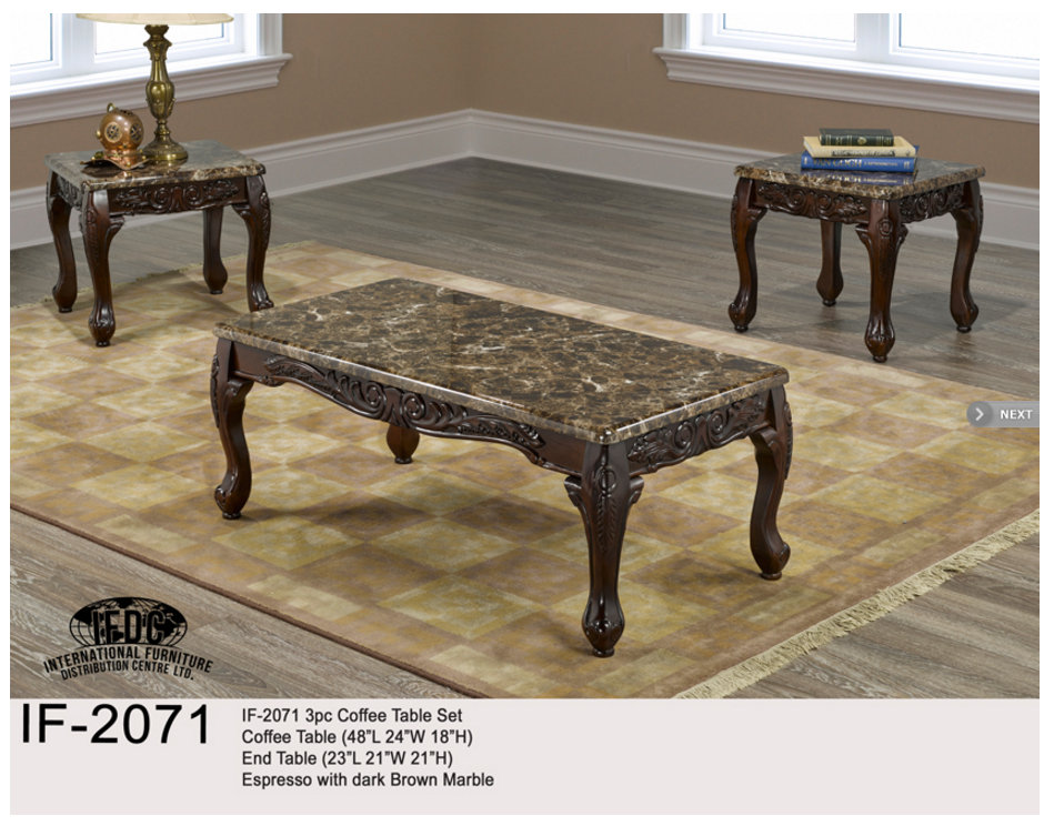 Comfort Night Scarborough Ontario MR A - Espresso finish coffee table set
