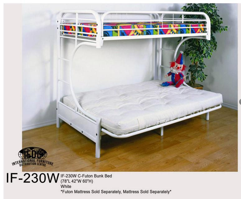 2501w Ts Twin Over Full Bunk Bed White Finish
