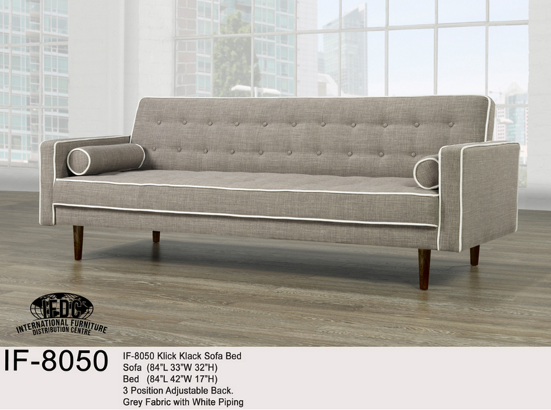 Futon If 8050 Klick Klack Fabric Sofa Bed With 2 Accent Pillows 499