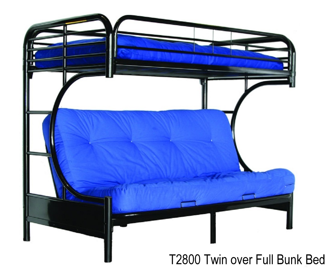 t2800 metal bunk bed twin over full futon metal mattress sold separately available in white or black twin bunk bedsdouble bunk bedsloft bedsdaybed  rh    fortnightfurniture